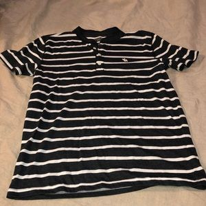 Abercrombie & Fitch striped henley t-shirt